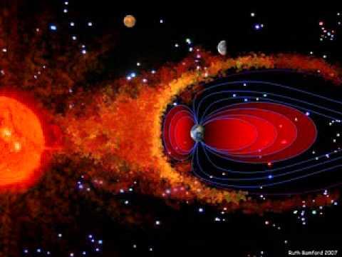 el campo magnético de la Tierra es una radiación de Ondas de fuerza magnética