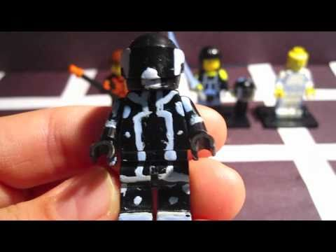 Custom Lego Tron Figures-Hand Painted