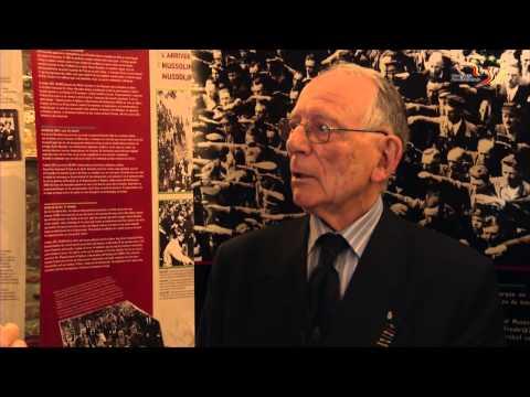 """Un ancien résistant visite l'expo """"Résistance en Europe"""""""