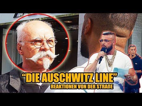 """die """"AUSCHWITZ LINE"""" von FARID BANG und KOLLEGAH    LIVE REAKTIONEN VON DER STRAßE 🎧 - Leon Lovelock"""