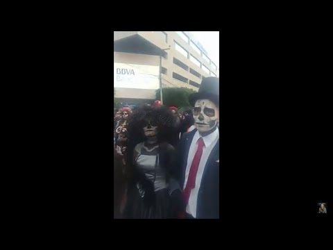 Desfile de día de muertos en Guadalajara con Gaby Machuca