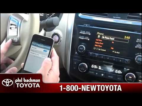 How to add or pair a phone using bluetooth on a 2013 Nissan Altima- Phil Bachman Toyota