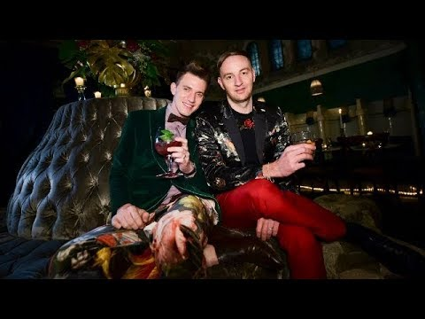 Gert Johan Coetzee toasts his 30th birthday with friends