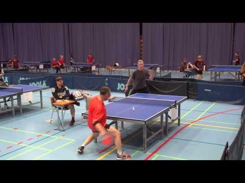 Unbelievable ping pong shot stuns opponent