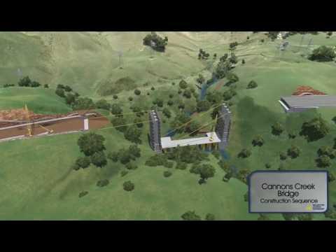 Cannons Creek Bridge construction