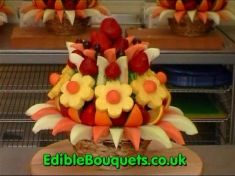 Edible Fruit Bouquets and Arrangements. With or without chocolate. (видео)