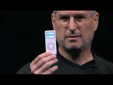 ipod - Here we see Steve Jobs introducing the first ever iPod Nano.