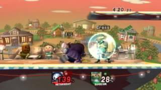 Cross's Sheik beating Edge's Meta Knight