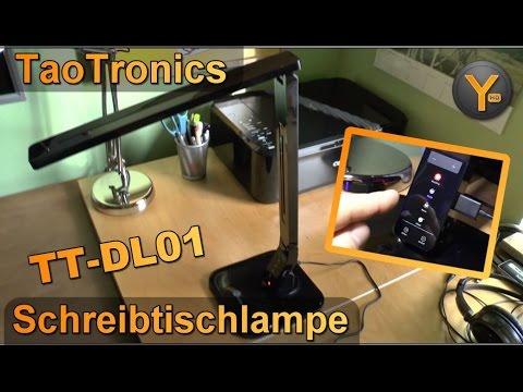 Review: TaoTronics LED Schreibtischlampe / Multifunktions-Lampe dimmbar / USB Anschluss