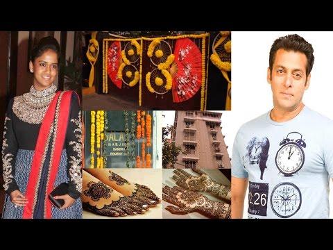 Salman Khan`s Sister Arpita Khan`s Mehandi Ceremony