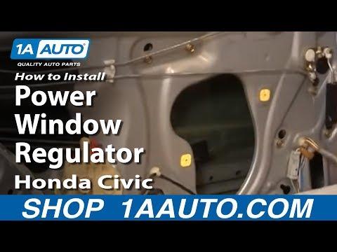 How To Install Replace Rear Power Window Regulator Honda Civic 01-05 1AAuto.com