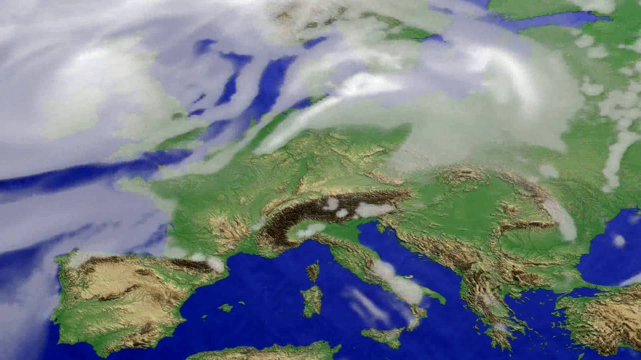 Cloud forecast Europe 2016-07-07