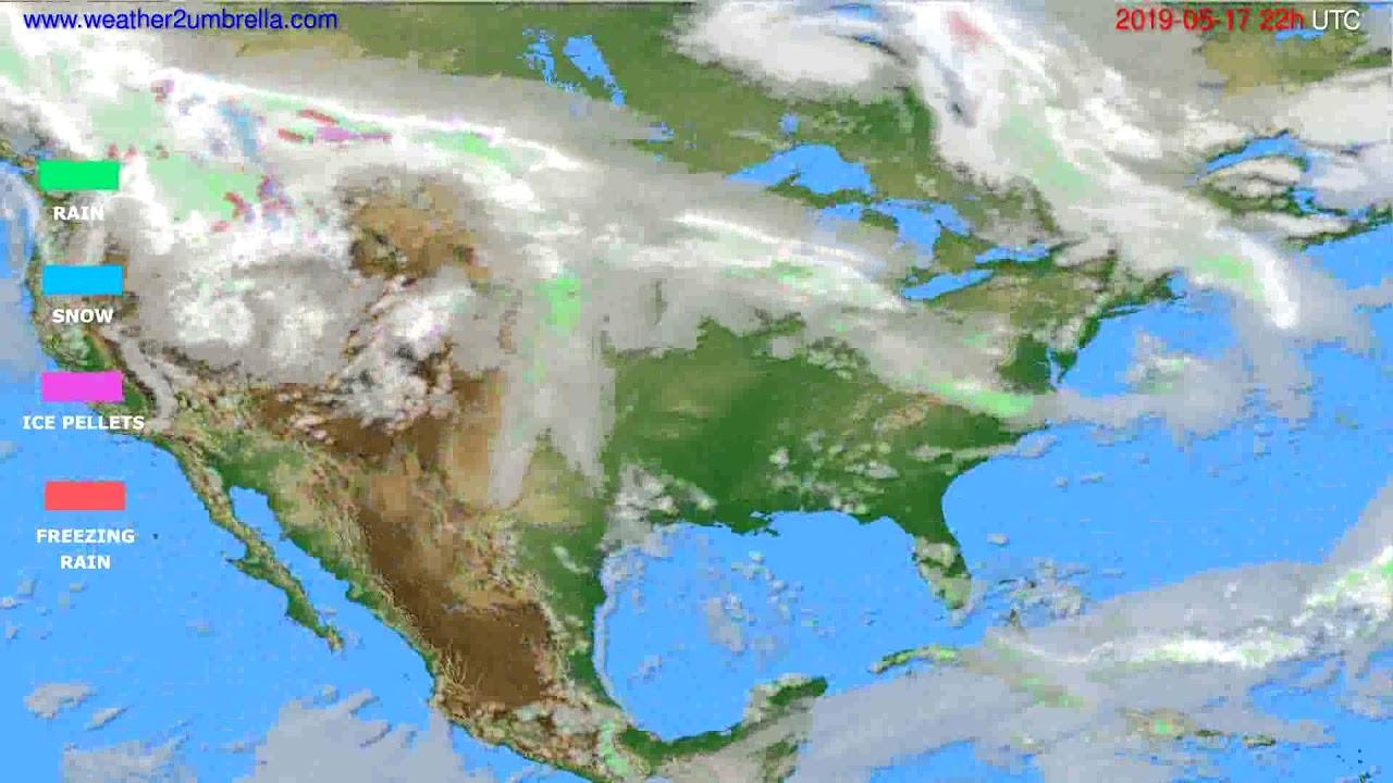 Precipitation forecast USA & Canada // modelrun: 00h UTC 2019-05-15
