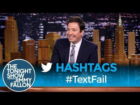 Tonight Show Hashtags  TextFail