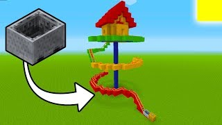"Minecraft Tutorial: How To Make A Roller Coaster House ""Mini Roller Coaster"""