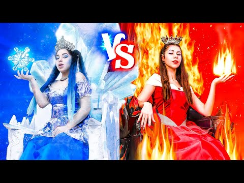 Hot vs Cold/ Princess on Fire vs Icy Princess