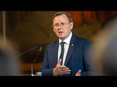 Nationalhymne: Thüringens Ministerpräsident Bodo Rame ...