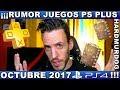 rumor Juegos Ps Plus Gratis Octubre 2017 Hardmurdog Jue