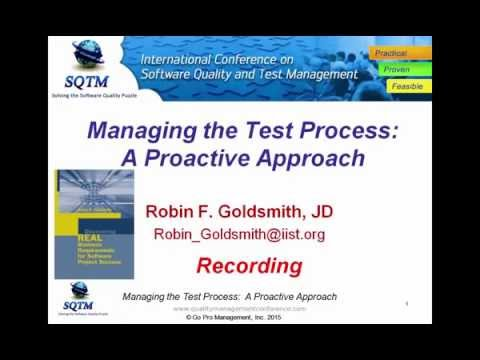 Software Testing Training | Managing the Test Process A Proactive Approach