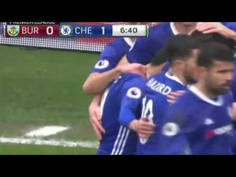 Pedro scores !!! Chelsea vs Burnley 1-0 2017