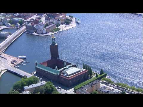 stockholm - www.stockholmtown.com Filmed and produced in HD by www.storyboard.se Stockholm, Sweden. Tags: Aerial view. Visit. Tourism. City on water.