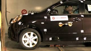 Crast test delantero Nissan Micra en CESVIMAP