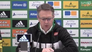 Die Pressekonferenz nach Rapid vs Mattersburg
