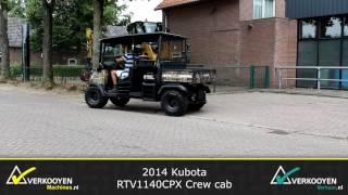 7. 2014 Kubota RTV1140CPX Crew cab