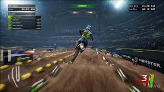 Monster Energy Supercross - Indianapolis (Lucas Oil Stadium) - Gameplay (PC HD) [1080p60FPS]