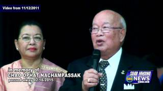 Suab Hmong News: In memory of Chao Ophat Nachampassak, passed away on 02/16/2015
