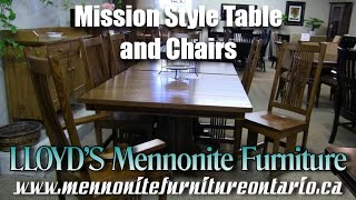 Mennonite Mission Double Pedestal Kitchen Table and Chairs