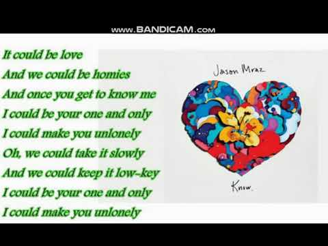 Jason Mraz - Unlonely (Lyrics)