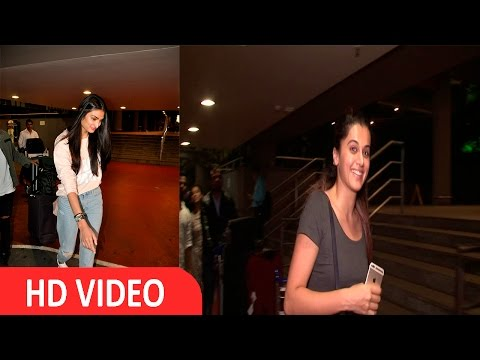 Taapsee Pannu & Athiya Shetty Spotted At Airport