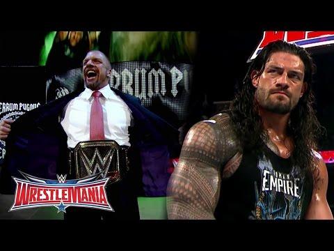 The Road to WrestleMania: WWE World Heavyweight Champion Triple H vs. Roman Reigns