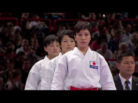 (1/2) Karate Japan vs Italy. Final Female Team Kata. WKF World Karate Championships 2012