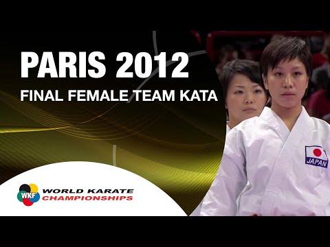 A párizsi vb női csapat kata döntője - Japán