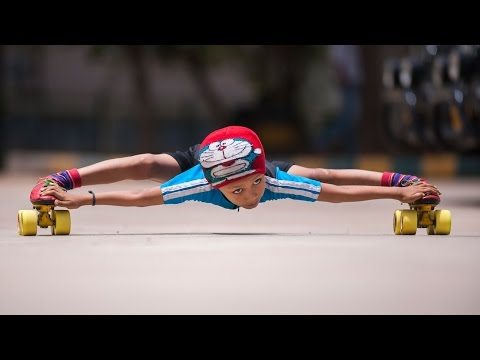 Record Breaking Limbo Skater 6yearold Skates Under 39