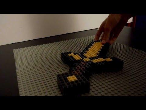 смотреть как сделать лего меч из майнкрафт #5