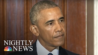 Angry President Obama Tears Into Donald Trump Like Never Before   NBC Nightly News