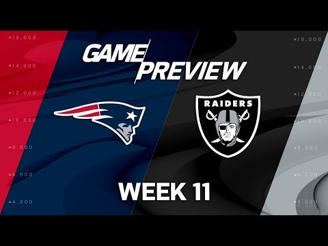 Video: New England Patriots vs. Oakland Raiders | NFL Week 11 Game Preview | Move the Sticks