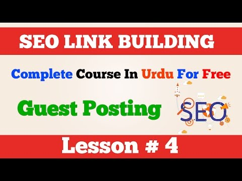 4 Offpage SEO Link Building How to backlink from Guest Posting Urdu Hindi