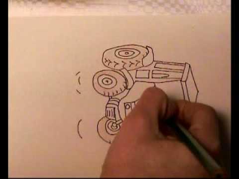 Traktor malen für Kinder