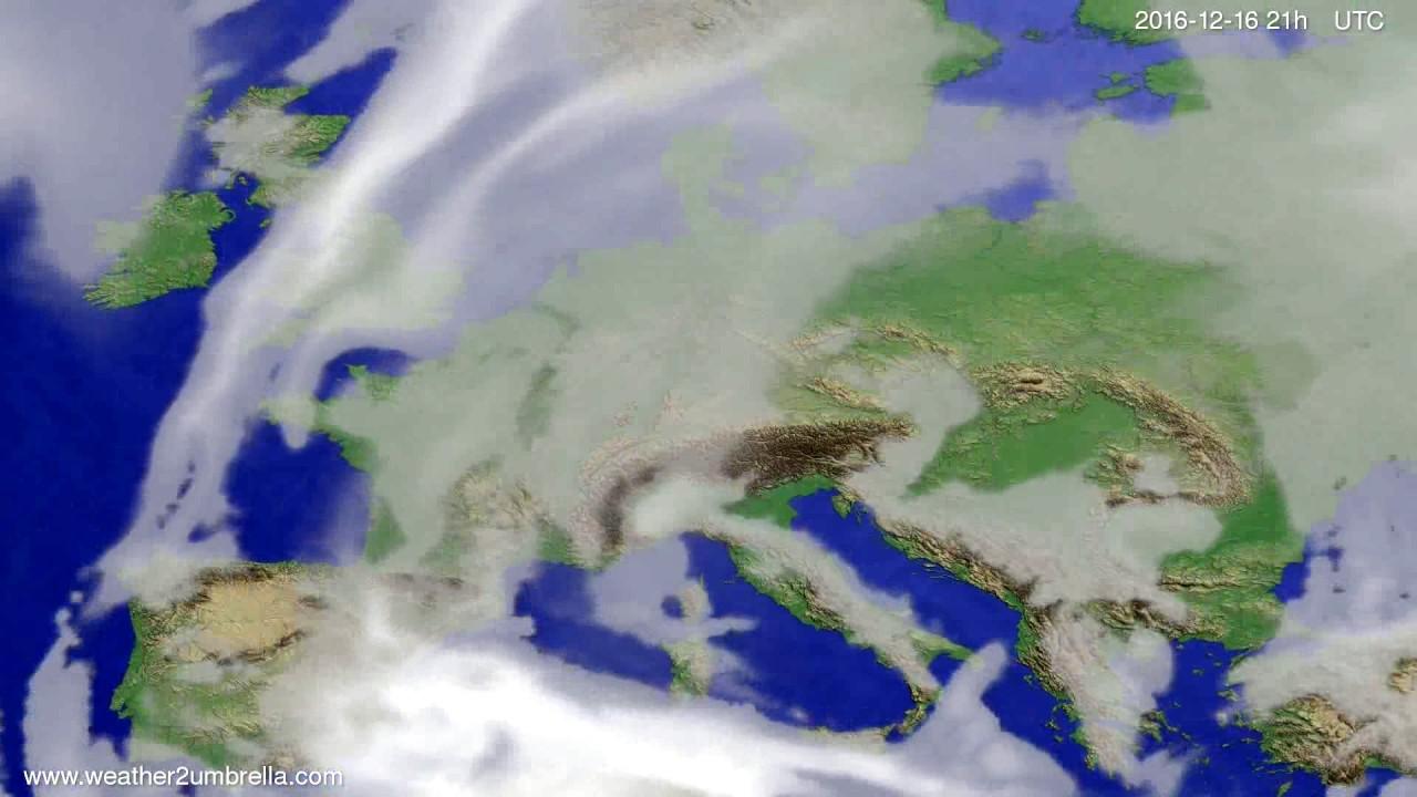 Cloud forecast Europe 2016-12-13