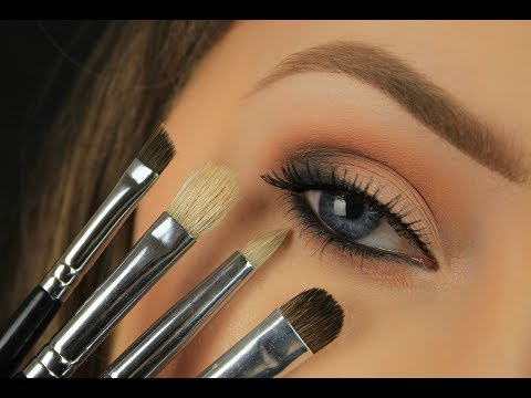 Makeup Brushes for Beginners & Their Uses | Eyes (видео)