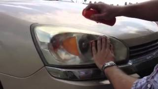 How to clean yellow headlights using OFF!