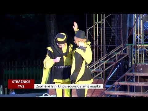 TVS: Strážnice - Zaplněné letní kino vidělo slavný muzikál