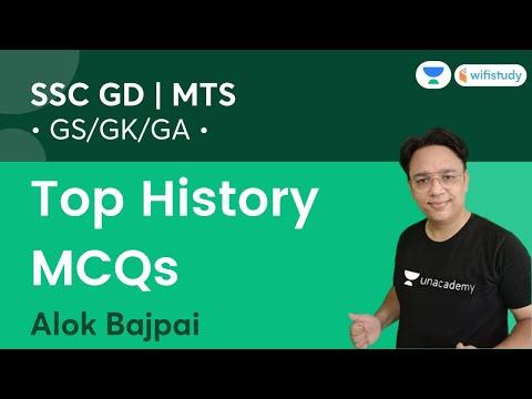 Top History MCQs   GK /GS/GA   SSC MTS 2021 & SSC GD   wifistudy   Alok Bajpai