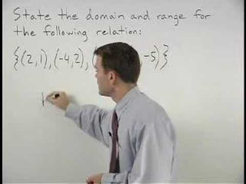 how to write domain and range