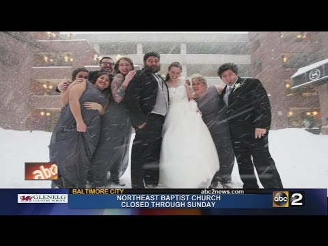 Couple gets married during the Blizzard!!