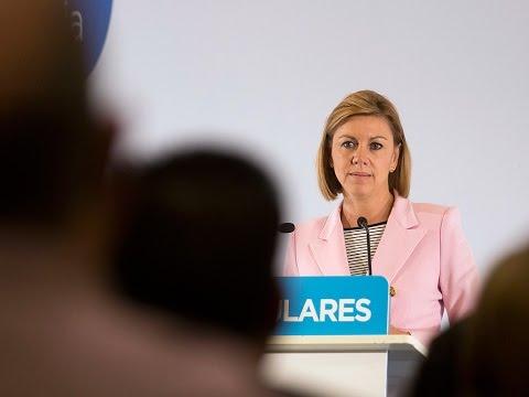 """Cospedal asegura que el PP va a estar """"siempre al servicio de España"""""""